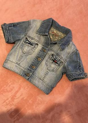 Укороченная джинсовая курточка castro 🎁 от 200 грн.