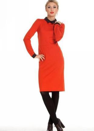 Оранжевое трикотажное платье musthave