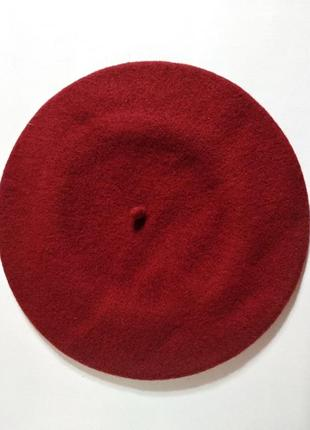 Качественный фетровый берет tonak fezko чехия красный