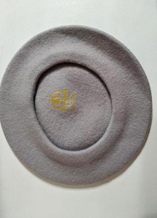 Качественный фетровый берет tonak fezko чехия серый