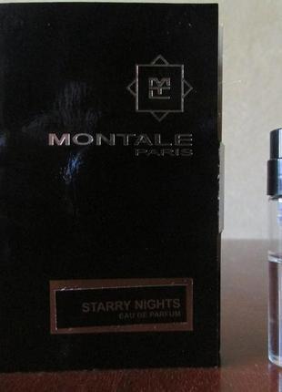 Парфюмированная вода starry night montale остаток 1,5 мл.