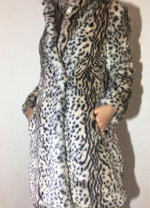 Супер мягкая леопардовая шуба от new look