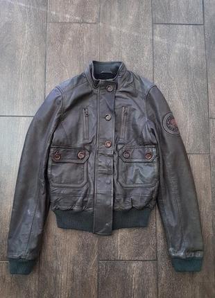 Шикарная кожанная  куртка кожанка косуха