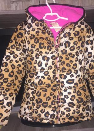 Куртка деми/зима леопард