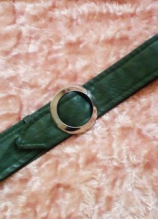 Ремень кож.зам с кольцом
