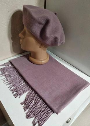 Комплект чешский фетровый берет tonak и шарф палантин