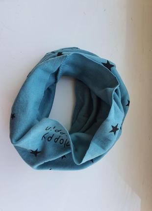 Новый детский шарф-снуд (бафф) с принтом звездочки