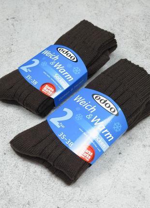 35-38 набор теплые носки на зиму weich and warm edoo nur die