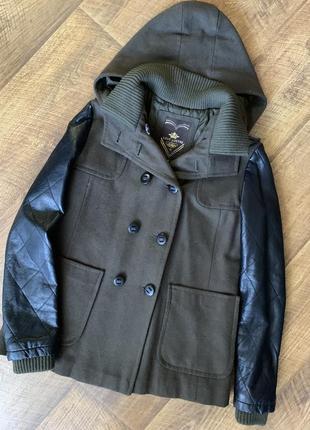 Стильное шерстяное демисезонное пальто love lustre