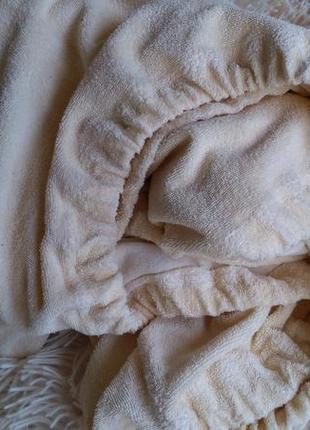 Детская махровая простынь на резинке