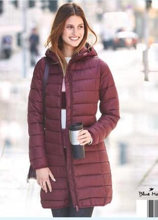 Удлиненная демисезонная куртка пальто blue motion. вс размеры в наличии. три цвета