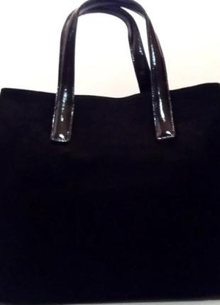 Современная деловая сумка  amelia из натуральной замши