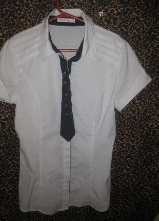 Школьная блузка,  на возраст 13-14