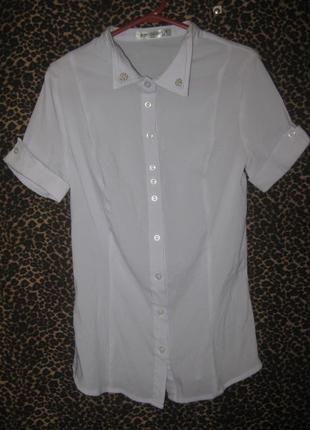 Школьная блузка,  на возраст 13-15 лет