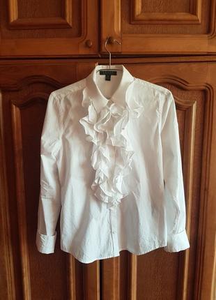 ❤шикарная блуза рубашка с жабо от ralph lauren (p.m)❤