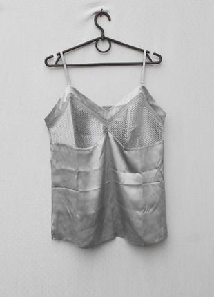 Шелковая пижамная майка блузка для дома с сна laura clement