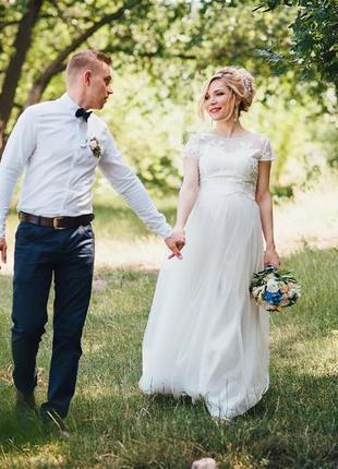 Свадебное платье (топ +юбка)