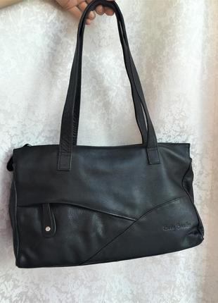 Кожаная сумка betty barclay натуральная кожа, брендовая