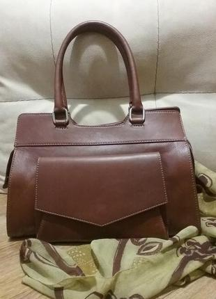 Итальянская кожаная сумка vera pelle brown