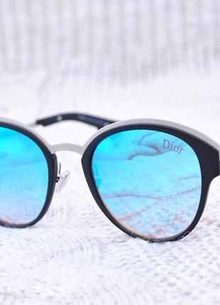Стильные оригинальные очки в стиле dior с зеркальной линзой
