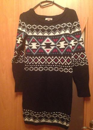 Шерстяное платье-свитер bershka