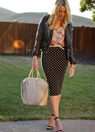 Распродажа!!! стильная юбочка в горошек в идеальном состоянии!!!