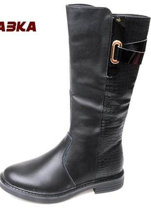 Демисезонные сапоги ботинки осенние весенние утепленные для девочки дівчинки 6056 сказка