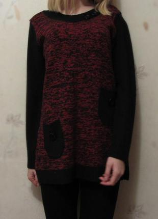 Платье-туника тёплая