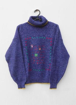 Шикарный осенний зимний вязаный шерстяной костюм свитер + юбка daniel hechter