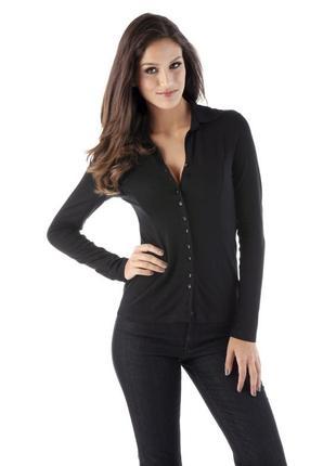 Черная трикотажная рубашка intimissimi