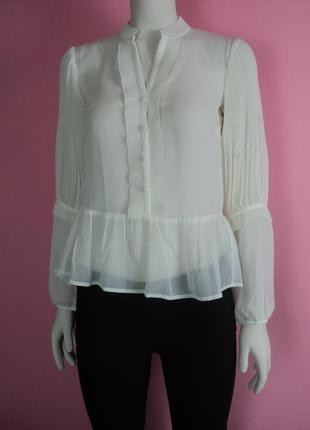 Новая блузка h&m викторианском стиле белая блуза воланами рюшами длинным рукавом