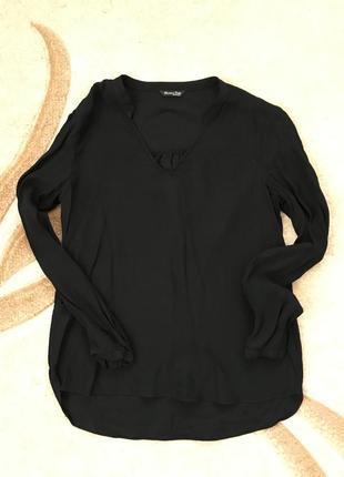 Massimo dutti блуза чёрная