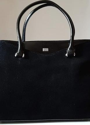 Статусная женская сумка полностью из натуральной замши