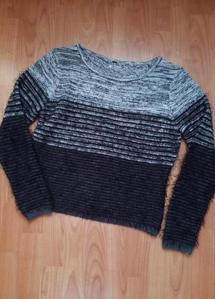 Укороченный свитер- травка