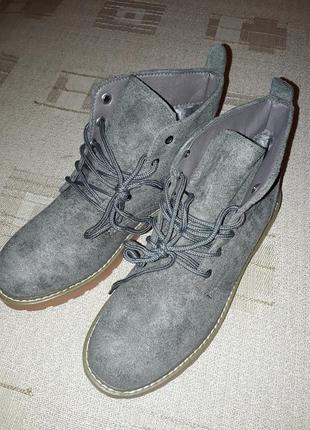 Ботинки зимние, искуственный замш