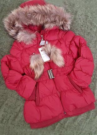 Полномерная зимняя тёплая куртка kiko на 10-14 лет. оригинал!
