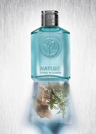Мужская туалетная вода nature можжевельник и гваяковое дерево от yves rocher ив роше 75 мл