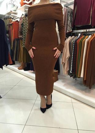 Платье тёплое платье миди универсальный размер