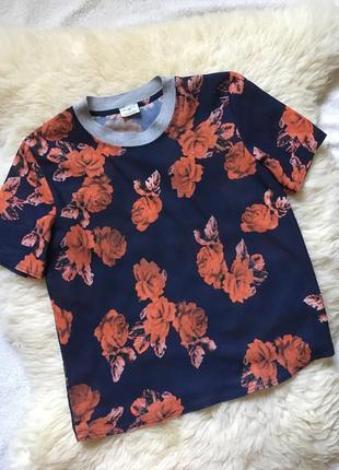 Легкая яркая футболка розы 🌹 zara