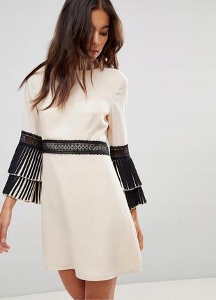 Little mistress неймовірна сукня рукави-плісе