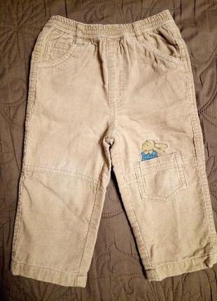 Теплые брючки вельветовые утеплённые штаны