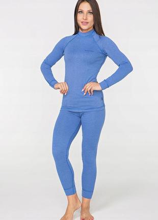 Женское повседневное термобелье radical cute, теплое зимнее комплект, голубое