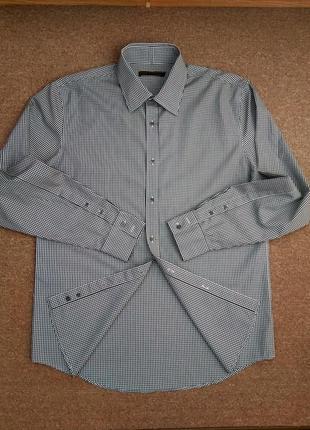 Мужская рубашка английского бренда reiss в клетку.