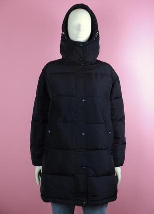 Новый пуховик капюшоном синий зефирка оверсайз зимний пальто куртка стиле balenciaga