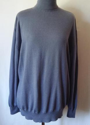 Шерстяной свитер-гольф 100% шерсть мериноса woolmark