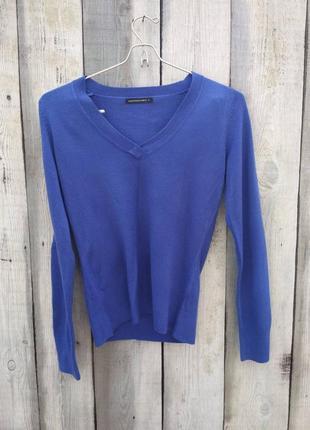 Синий крутой пуловер
