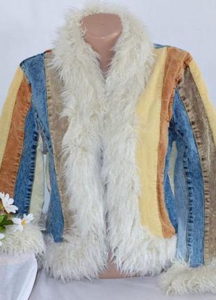 Демисезонная короткая куртка с меховым воротником miss posh miss sixty этикетка