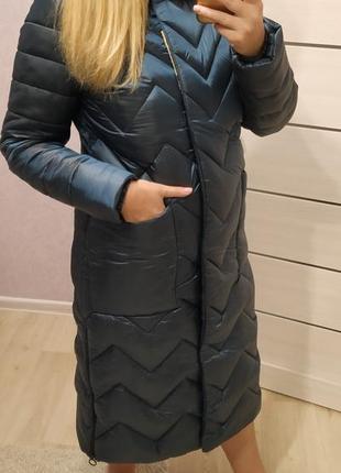Зимний удлиненный пуховик на термоподкладке goods fancy