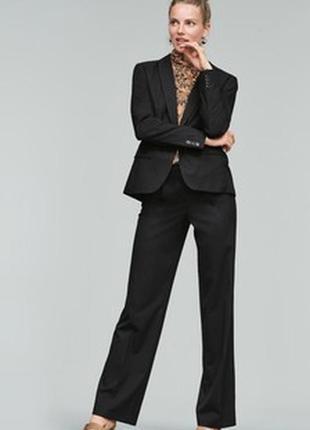 Брючный, классический, деловой костюм f&f 38/10 m, черный