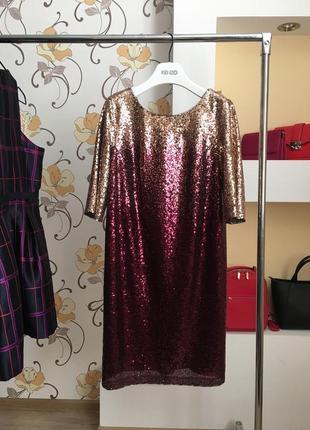 Выходное , дизайнерское, нарядное , вечерние платье в пайетки от украинского бренда seam